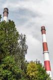 Old chimneys Silesia. Nikiszowiec Katowice Royalty Free Stock Images