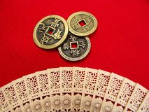 Old China Coins Royalty Free Stock Photography