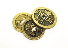 Old China Coins Stock Photo