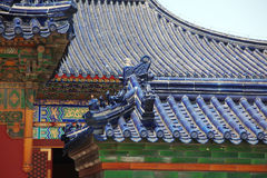 Old China roof at The Imperial Vault of Heaven Stock Images