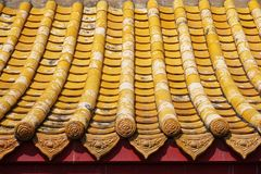 Old china roof. In country Thailand stock image