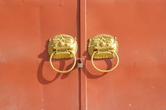 old china shrine door Stock Photography