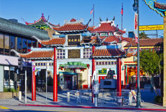 Old Chinatown Gate in Los Angeles Royalty Free Stock Image