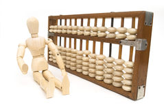 Old chinese abacus Royalty Free Stock Images