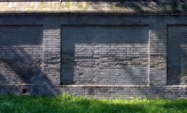 Old Chinese brick wall. This is a old Chinese brick wall from hutong in Beijing Royalty Free Stock Photo