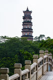 Old Chinese Buddhist Tower Stock Images