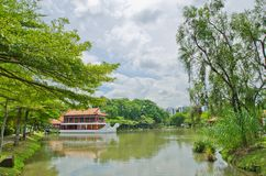 Old chinese building with water Royalty Free Stock Image