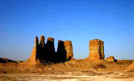 Old Chinese Castle Ruins. Castle ruins in west china Stock Photos