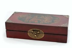 Old Chinese chess box Stock Image
