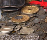 Old Chinese Coins Royalty Free Stock Images