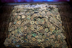 Old chinese coins Stock Photo