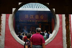Old Chinese Couple, A-Ma Temple, Macau. Royalty Free Stock Photos