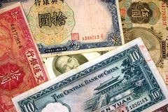 Old Chinese Currency. stock images
