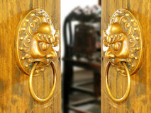 Old chinese door Stock Images