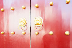 Old chinese door Royalty Free Stock Images
