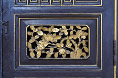 Old chinese door decoration. stock image