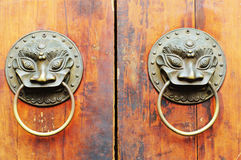 Old chinese door ornament Stock Photo