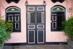 Old chinese door. At Phuket Stock Photos
