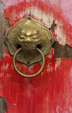 Old chinese door. Old red chinese door Stock Image