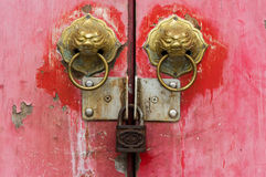 Old chinese door Royalty Free Stock Photography