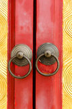 Old chinese door Stock Photography