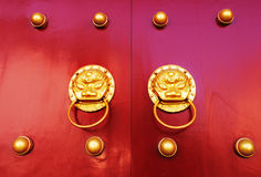 Old chinese door Stock Image