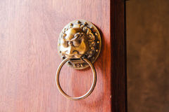 Old Chinese doorknob,chinese concept. Old Chinese doorknob, chinese concept Stock Photo