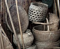 Old Chinese Farm Tools Royalty Free Stock Photos