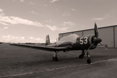 Old Chinese  fighter plane side view Royalty Free Stock Photos
