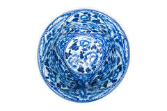 Old chinese flowers pattern style painting on the ceramic bowl Stock Image
