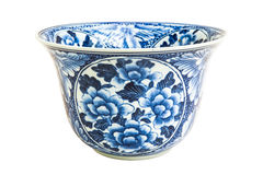 Old chinese flowers pattern style painting on the ceramic bowl Stock Photo