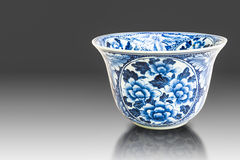 Old chinese flowers pattern style painting on the ceramic bowl Royalty Free Stock Photography