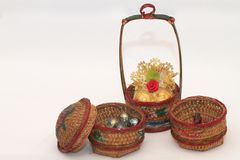Old chinese food carrier Stock Images