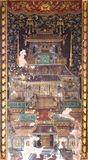 Old Chinese Fresco On Thai Temple Wall. Old Chinese Fresco in Thai Temple, Wat Racha Orasaram Royalty Free Stock Photos