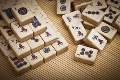 Old chinese game mahjongg Royalty Free Stock Image
