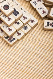 Old chinese game mahjongg Stock Photos