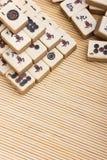 Old chinese game mahjongg Stock Photos