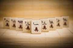 Old chinese game mahjongg Royalty Free Stock Images