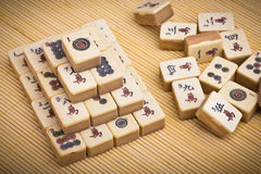 Old chinese game mahjongg Stock Image