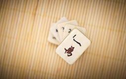 Old chinese game mahjongg Stock Photo