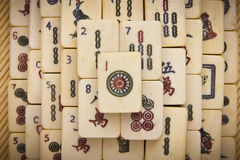 Old chinese game mahjongg Royalty Free Stock Photo