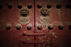 Old Chinese Gate: Aged Style. An old Chinese gate is a part of the Chinese Culture Stock Photography