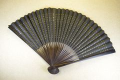 Old Chinese hand fan royalty free stock image