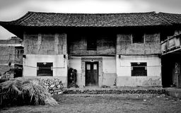 Old Chinese house. An old farmhouse in a small village in China Stock Images