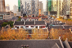 Old Chinese Houses High Rises Xintiandi Shanghai Stock Images