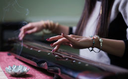 The old Chinese instrument- Guqin Royalty Free Stock Photography