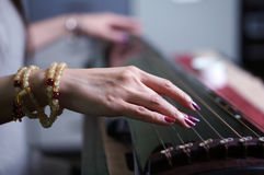 The old Chinese instrument- Guqin royalty free stock image