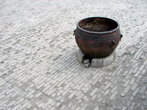 Old Chinese metal pot Royalty Free Stock Photos