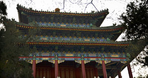 Old Chinese Pavilion Jingshan Park Beijing China Royalty Free Stock Images