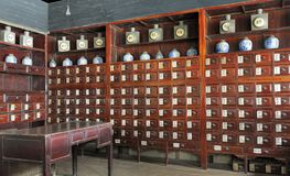 Old Chinese pharmacy Stock Photos
